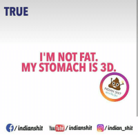 Memes, 🤖, and Indians: TRUE  I'M NOT FAT.  MY STOMACH IS 3D.  INDIAN SHIT  indianshit  You  indianshit  (O indian shit Who said 3d is Fat Indian_shit
