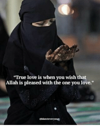 "Love, Memes, and True: ""True love is when you wish that  Allah is pleased with the one you love.""  eiamleveryone ""True love is when you wish that Allah is pleased with the one you love. "" May Allah be pleased with the ones we love. Ameen"