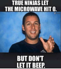 Adam Sandler is a microwave ninja.: TRUE NINJASLET  THE MICROWAVE HITO.  BUT DON'T  LETITBEER Adam Sandler is a microwave ninja.