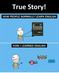 Network, Grammar, and Networking: True Story!  HOW PEOPLE NORMALLY LEARN ENGLISH  FUNDAMENTALS OF  NGLISH  GRAMMAR  HOW I LEARNED ENGLISH  ARTOO  NETWORK