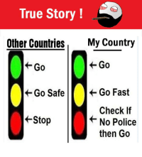 Twitter: BLB247 Snapchat : BELIKEBRO.COM belikebro sarcasm Follow @be.like.bro: True Story  Other Countries  My Country  Go  Go  Go Safe  Go Fast  Check If  +Stop  No Police  then Go Twitter: BLB247 Snapchat : BELIKEBRO.COM belikebro sarcasm Follow @be.like.bro