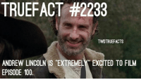 """yay for episode 100!!! ❤ walkingdead twd thewalkingdead episode100 andrewlincoln -Co: TRUEFACT #2233  TWDTRUEFACTS  ANDREW LINCOLN IS """"EXTREMELY EXCITED TO FILM  EPISODE 100 yay for episode 100!!! ❤ walkingdead twd thewalkingdead episode100 andrewlincoln -Co"""