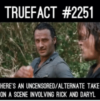 No, fuck this guy! thewalkingdead twd walkingdead @bigbaldhead @thetpayne @amcthewalkingdead: TRUEFACT #2251  UEFACT  HERE'S AN UNCENSORED/ALTERNATE TAKE  ON A SCENE INVOLVING RICK AND DARYL No, fuck this guy! thewalkingdead twd walkingdead @bigbaldhead @thetpayne @amcthewalkingdead