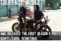 Does this excite you?? Twd thewalkingdead walkingdead -Owner: TRUEFACT #2353  TWDTRUEFACTS  AMC RELEASED THE FIRST SEASON 8 PHOTO  (DARYL/CAROL REUNITING!) Does this excite you?? Twd thewalkingdead walkingdead -Owner