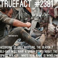 2 facts back to back! walkingdead thewalkingdead twd: TRUEFACT #2381  TWDTRUEFACTS  ACCORDING TO GREG NICOTERO, THE SEASON 7  BLU-RAY WLL HAVE A ORIGIN STORY ABOUT THE  SPIKED WALKER, WHO'S REAL NAME IS WINSLOW 2 facts back to back! walkingdead thewalkingdead twd