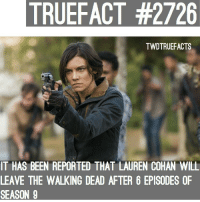 "Andrew Lincoln and Lauren Cohan are gone after S9! Since they're on the opposite team, they should have Maggie Kill Rick for keeping Negan alive and then have Daryl kill Maggie and that's how Norman has his ""lead"" on the show. 🤷🏽‍♂️ walkingdead thewalkingdead twd: TRUEFACT #2726  TWDTRUEFACTS  IT HAS BEEN REPORTED THAT LAUREN COHAN WILL  LEAVE THE WALKING DEAD AFTER 6 EPISODES OF  SEASON 9 Andrew Lincoln and Lauren Cohan are gone after S9! Since they're on the opposite team, they should have Maggie Kill Rick for keeping Negan alive and then have Daryl kill Maggie and that's how Norman has his ""lead"" on the show. 🤷🏽‍♂️ walkingdead thewalkingdead twd"