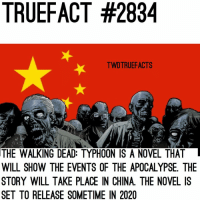 This will be interesting 😍 twd thewalkingdead walkingdead: TRUEFACT #2834  TWDTRUEFACTS  THE WALKING DEAD: TYPHOON IS A NOVEL THAT  WILL SHOW THE EVENTS OF THE APOCALYPSE. THE  STORY WILL TAKE PLACE IN CHINA. THE NOVEL IS  SET TO RELEASE SOMETIME IN 2020 This will be interesting 😍 twd thewalkingdead walkingdead