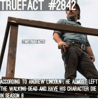 Would you have rather Rick die in S8 or S9? Either way he's dying lol. twd thewalkingdead walkingdead: TRUEFACT #2842  TWDTRUEFACTS  N  ACCORDING TO ANDREW LINCOLN HE ALMOST LEFT  THE WALKING DEAD AND HAVE HIS CHARACTER DIE  IN SEASON8  SEAN .HAVE HIS CHARACTER Would you have rather Rick die in S8 or S9? Either way he's dying lol. twd thewalkingdead walkingdead