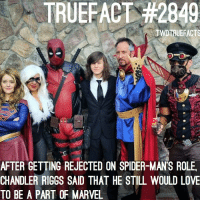 No shade or anything but... I swear Marvel only cast good actors ... 🙂😶😶😶😶😁love you, @chandlerriggs5 😶🤣 thewalkingdead twd walkingdead: TRUEFACT #2849  TWDTRUEFACTS  AFTER GETTING REJECTED ON SPIDER-MANS ROLE,  CHANDLER RIGGS SAID THAT HE STILL WOULD LOVE  TO BE A PART OF MARVEL No shade or anything but... I swear Marvel only cast good actors ... 🙂😶😶😶😶😁love you, @chandlerriggs5 😶🤣 thewalkingdead twd walkingdead