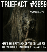 Whisperers look badass 😍 thewalkingdead twd walkingdead: TRUEFACT  #2859  TWDTRUEFACTS  HERE'S THE FIRST LOOK OF THE KEY ART FOR  THE WHISPERERS (INCLUDING ALPHA AND BETA) Whisperers look badass 😍 thewalkingdead twd walkingdead