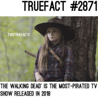 Beat Game Of Thrones, The Flash, and Big Bang Theory this year. walkingdead thewalkingdead twd: TRUEFACT #2871  TWDTRUEFACTS  THE WALKING DEAD IS THE MOST-PIRATED TV  SHOW RELEASED IN 2018 Beat Game Of Thrones, The Flash, and Big Bang Theory this year. walkingdead thewalkingdead twd