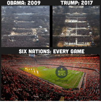 Rugby, Getty, and Fortnight: TRUMP: 2017  OBAMA: 2009  SIX NATIONS: EVERY GAME  RUGBY  MEMES  Getty Im Less than a fortnight to go... 💪🏼🏉 rugby sixnations 6nations