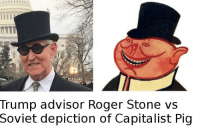 "<p>Trump secret communist memes!!!!!!! via /r/MemeEconomy <a href=""http://ift.tt/2npGJwd"">http://ift.tt/2npGJwd</a></p>: Trump advisor Roger Stone vs  Soviet  depiction of Capitalist Pig <p>Trump secret communist memes!!!!!!! via /r/MemeEconomy <a href=""http://ift.tt/2npGJwd"">http://ift.tt/2npGJwd</a></p>"