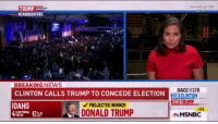More Folk That Should Be Eating Crow Soon: TRUMP  HEADQUARTERS  BREAKING NEWS  RACE TO270  CLINTON CALLS TRUMP TO CONCEDE ELECTION  CLINTON  248 TRU  IDAHO  PROJECTED WINNER  MSNBC More Folk That Should Be Eating Crow Soon