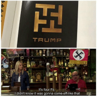 Memes, 🤖, and Trump-It: TRUMP  It's four Fs  didn't know it was gonna come off like that
