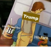 "<p>Undervalued right now. Prime time to BUY! via /r/MemeEconomy <a href=""https://ift.tt/2n0yaWx"">https://ift.tt/2n0yaWx</a></p>: Trump  Literally Anything  His Fans  @Clapped_Cheeks <p>Undervalued right now. Prime time to BUY! via /r/MemeEconomy <a href=""https://ift.tt/2n0yaWx"">https://ift.tt/2n0yaWx</a></p>"