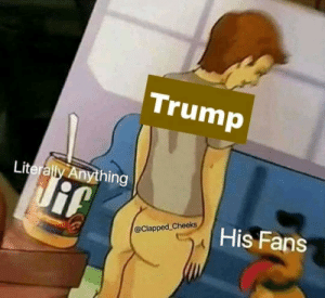 Meme, Trump, and Old: Trump  Literally Anything  His Fans  @Clapped Cheeks Bringing back and old meme