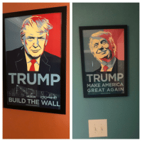 America, Dad, and House: TRUMP  MAKE AMERICA  GREAT AGAIN  BUILD THE WALL  DONALDJTRUMP.COM