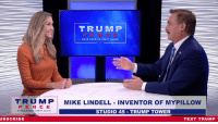 "America, Control, and American: TRUMP  N C  TRUM P MIKE LINDELL INVENTOR OF MYPILLOW  PEN C E  MAKE AMERICA GREAT AGAIN,  STUDIO 45 TRUMP TOWER  UBSCRIBE  TEXT TRUMP I cannot stress how important it is that you vote Republican to keep American business BOOMING. If the Democrats gain control, all of the progress we've made will come to a screeching halt!  As MyPillow's Mike Lindell says, ""we've come so far, we don't want to go in reverse."""
