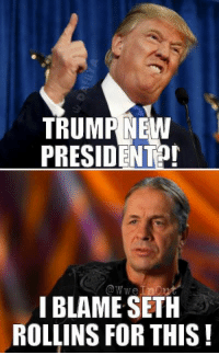 Bret knows what`s up lol :p :p #USElection2016 #ElectionNight - R1 -: TRUMP NEW  PRESIDENT  owwe inout  I BLAME SETH  ROLLINS FOR THIS Bret knows what`s up lol :p :p #USElection2016 #ElectionNight - R1 -