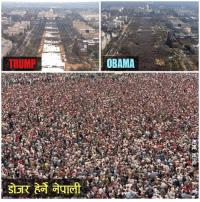 Haters will say, this is a fake crowd 😂😂😂: TRUMP  OBAMA Haters will say, this is a fake crowd 😂😂😂