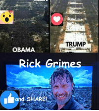 #TheWalkingDead fans, please GIVE this post for Rick Grimes an ACTUAL VOTE today. :) (y)  Photo credit: Elliot Van Orman Productions: TRUMP  OBAMA  Rick Grimes  Grand SHARE #TheWalkingDead fans, please GIVE this post for Rick Grimes an ACTUAL VOTE today. :) (y)  Photo credit: Elliot Van Orman Productions