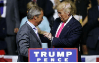 Donald Trump, Funny, and Trump: TRUMP  PENCE Donald Trump and Nigel Farage set to RULE THE GALAXY together!!!!!! 😱😱😱😱