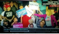 America, Facebook, and Instagram: TRUMP RALL  YOUNGSTOWN, O  7:28 PM ET  TRUMp  ROMP  WOMEN  rE  The Story With Martha MacCallum INAL  DEFENDING OUR BORDE  8:00PM  7:00PME Can't believe I didn't see this the other day! A commie at Trump's Ohio rally got REKT! commie dirtycommie communism trumpmemes liberals libbys democraps liberallogic liberal maga conservative constitution presidenttrump resist thetypicalliberal typicalliberal merica america stupiddemocrats donaldtrump trump2016 patriot trump yeeyee presidentdonaldtrump draintheswamp makeamericagreatagain trumptrain triggered CHECK OUT MY WEBSITE AND STORE!🌐 thetypicalliberal.net-store 🥇Join our closed group on Facebook. For top fans only: Right Wing Savages🥇 Add me on Snapchat and get to know me. Don't be a stranger: thetypicallibby Partners: @theunapologeticpatriot 🇺🇸 @too_savage_for_democrats 🐍 @thelastgreatstand 🇺🇸 @always.right 🐘 @keepamerica.usa ☠️ @republicangirlapparel 🎀 @drunkenrepublican 🍺 TURN ON POST NOTIFICATIONS! Make sure to check out our joint Facebook - Right Wing Savages Joint Instagram - @rightwingsavages