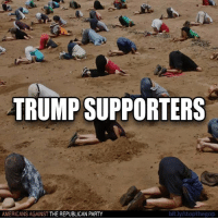 Party, Republican Party, and Trump: TRUMP SUPPORTERS  AMERICANS AGAINST THE REPUBLICAN PARTY  bit.ly stopthegop Trump fans refuse to believe any fact that is critical of Trump, no matter what. Their willful ignorance is stunning.   Like Americans Against The Republican Party to show where you stand!