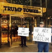 Lol, Memes, and Muslim: TRUMP  TOWR  WE ARE  MUSLIM  No  ARE NOT ALL LOL everybody go give @wall__up a follow! He posts great content! @wall__up