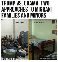 What the media won't show you... 😡 Trumplicans PresidentTrump MAGA TrumpTrain AmericaFirst: TRUMP VS. OBAMA: TWO  APPROACHES TO MIGRANT  FAMILIES AND MINORS  June 2014  June 2018  Breitbart Texas Release  U.S. Government Photos What the media won't show you... 😡 Trumplicans PresidentTrump MAGA TrumpTrain AmericaFirst
