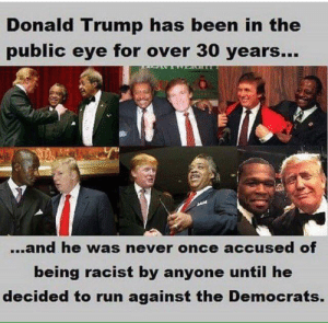 Trump was once next to a black person, checkmate dumbdumbcrats: Trump was once next to a black person, checkmate dumbdumbcrats