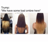 """Bad, Memes, and Http: Trump  """"We have some bad ombre here"""" literally the easiest way to register to vote 👉 http://pizzabottle.co/2dz2GCD #voteplz"""