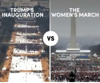 Memes, Navigation, and 🤖: TRUMPES  THE  INAUGURATION  WOMEN'S MARCH  VS Protesters flooded the nation's capital for the Women's March — a stark contrast to the near-empty streets during Trump's inauguration. Keep up with Navigating Trump's America: http://bit.ly/2k5feCo