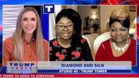 With 6 days to go until the midterms, it's DECISION TIME. We brought in Diamond And Silk to break down what both parties have to offer so you can make the RIGHT choice on Election Day!: |TRUMPI  PEN CE  DIAMOND AND SIL  STUDIO 45 TRUMP TOWER  T TRUMP TO 88022 TO SUBSCRIBE With 6 days to go until the midterms, it's DECISION TIME. We brought in Diamond And Silk to break down what both parties have to offer so you can make the RIGHT choice on Election Day!