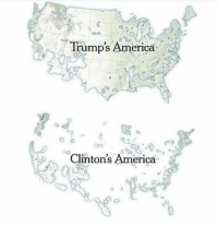 Reality check for the libtards.: Trump's America  Clinton's America Reality check for the libtards.
