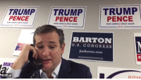 """America, Ted, and Ted Cruz: TRUMPTRUMP TRUMP  PENCE  PENCE  PENCE  MAKE AMERICA GREAT AGAIN  MAKE AMERICA GREAT AGAIN  BARTON  U.S. CONGRESS  JoeBarton.com  MIKE  0:22 ,ויי  FLI7AD <p><a href=""""http://the-real-ted-cruz.tumblr.com/post/151439740454/communismkills-what-is-trump-doing-cruz-looks"""" class=""""tumblr_blog"""">the-real-ted-cruz</a>:</p>  <blockquote><p><a href=""""http://communismkills.tumblr.com/post/151436965163/what-is-trump-doing-cruz-looks-worse-than"""" class=""""tumblr_blog"""">communismkills</a>:</p>  <blockquote><p>What is Trump doing? Cruz looks worse than Christie with his hostage face.<br/></p></blockquote>  <p>I don't have much time. He'll be back any second. I know I'll get in trouble when he finds out I did this, but I have to tell the people the truth. </p><p>I always thought that The Trump Mafia was just a conspiracy, but when some of the other Republicans started disappearing, I wasn't so sure. So, I started asking around, curious if the legend had any truth in it. After days of asking, I got no answers. </p><p>That's when they found me </p><p>They took me from my home, stuffed me in a van, and put a chloroform rag over my face. I woke up tied to a chair in a damp basement with Trump standing over me. He forced me to say I'd vote for him. I didn't want to but Trump- he has his ways. </p><p>I was subjected to three hours of the Nutshack theme on a loop. It was excruciating. Every utterance of the word """"Nutshack"""" put lashes in soul and bullet holes in my will to live.</p><p>I couldn't take it any more. Every part of me begged for it to stop, so I caved in. I told the world I'd vote Trump. I had no choice. </p><p>I thought the torture would be the end of it, but after I made my endorsement, they came back. </p><p>They took me to an abandoned Trump Tower, dragged me by the collar of my shirt, and threw me down a stairwell into a basement. </p><p>Nothing could have prepared me for what I would see when I looked up from the dirty ground.</p><p>Around me stood the """