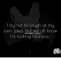 Dank, Facebook, and Fucking: try not to laugh at my  own jokes, but we all know  Facebook@FYIF IGO fyif  m fucking hilarious