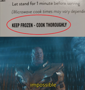 Trying to decode a frozen meal's directions...: Trying to decode a frozen meal's directions...