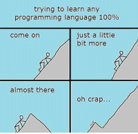 Anaconda, Programming, and Language: trying to learn any  programming language 100%  just a little  bit more  come on  almost there  oh crap.. Learning any programming language