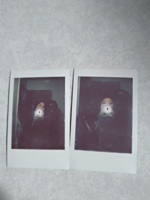 Trying to take a cute Polaroid pic to commemorate the new year with friends of different skin tones...: Trying to take a cute Polaroid pic to commemorate the new year with friends of different skin tones...