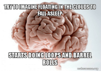 Fall, Book, and How To: TRYTOIMAGINE FLOATING IN THE CLOUDS TO  FALL ASLEEP  STARTSDOING LOOPS AND BARREL  ROLLS  makeameme.org Ive been reading a book on how to relax before bedtime.