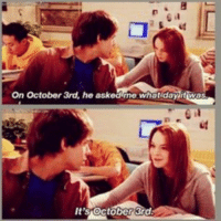 It's time to honor a very important day in history.: On October 3rd, he askearne what day it wAs  It's October&d It's time to honor a very important day in history.