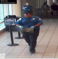 Head, Memes, and News: TSA/Savannah/  Hilton Head International Airport  FOX  NEWS New surveillance video shows a security officer at @savhhiairport grab a bag that started smoking as it went through security. The @TSA says the officer quickly got the bag away from the crowd to keep everyone safe. They later found the smoke came from a malfunctioning vape battery.