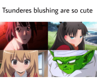 blushing: Tsunderes blushing are so cute