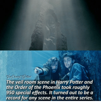 Who's death was the saddest for you in HP? -* 😭 ♔ Tag a friend who loves Harry Potter too! 😋👇 ◇ Potterheads⚡count: 149,140: ttey  cheDiany  The veil room scene in Harry Potter and  the Order of the Phoenix took roughly  950 special effects. It turned out to be a  record for any scene in the entire series. Who's death was the saddest for you in HP? -* 😭 ♔ Tag a friend who loves Harry Potter too! 😋👇 ◇ Potterheads⚡count: 149,140