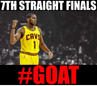 Cavs, Finals, and Nba: TTHSTRAIGHT FINALS  ONBANMEMES  CAV  Appreciate greatness.. #Cavs Nation