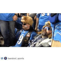 Aaron Rodgers, Detroit, and Detroit Lions: tu barstool sports Detroit Lions superfans' reactions to Aaron Rodgers' Hail Mary last night are exactly what you think they would be. 😂😭