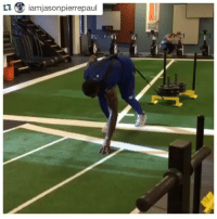 Jason Pierre-Paul works out—without gloves.: tu iamijasonpierrepaul Jason Pierre-Paul works out—without gloves.