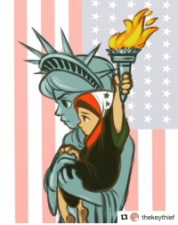 "Memes, Muslim, and Banished: tu thekeythief Artist: @thekeythief · ""If what we stand for today is banishing and vilifying an entire religion, and turning away people in dire need, then I am ashamed to call myself an American. This is not what we are about. This is not who we are. To the Muslim people, I am sorry. To the refugees seeking solace, I am sorry. To the rest of the world, I am sorry."""